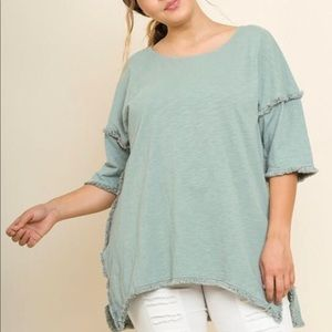 High low Umgee Tunic- Plus Sizes